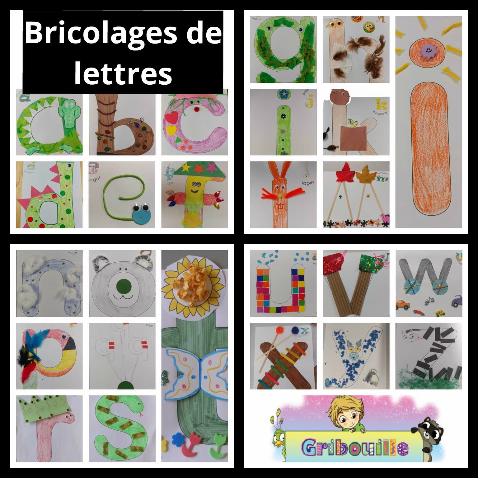 Bricolages de lettres