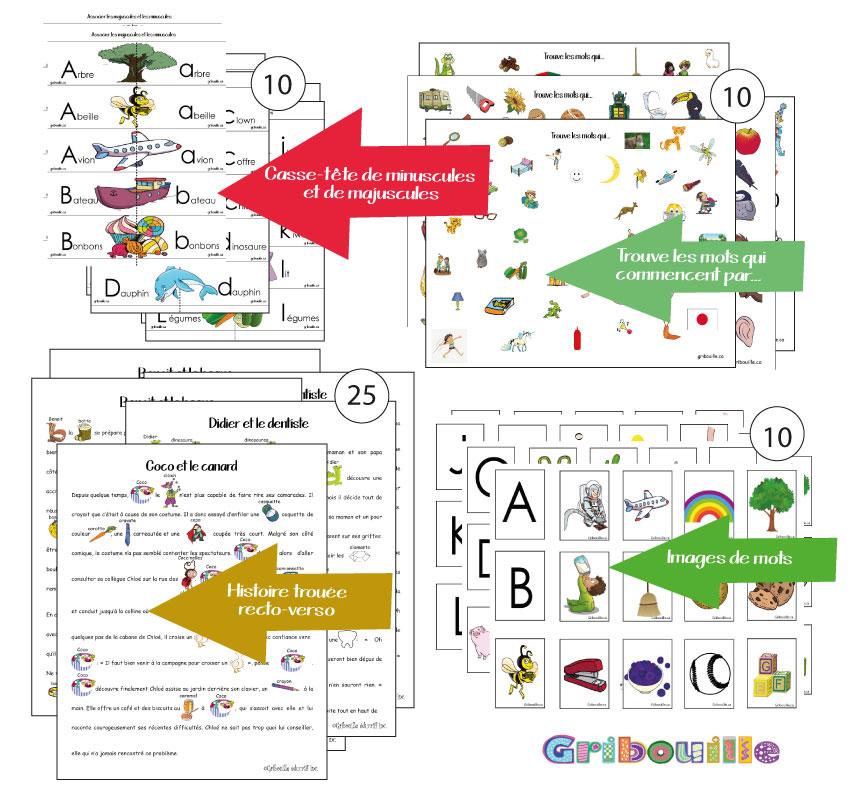 Affiches pour l'apprentissage des lettres