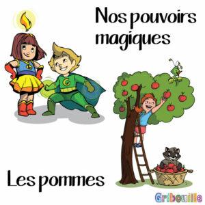 thèmes pouvoirs magiques et les pommes